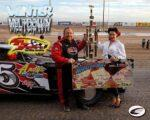Terry Phillips picks up $10,000 Modified win at Southern New Mexico Speedway's Winter Meltdown!