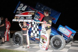 Rico Abreu picked up his first Lucas Oil ASCS National Tour victory on Friday, February 28 in the series 2014 season opener (ASCS / Hulbert Photo).