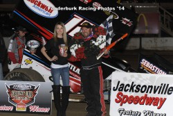 Jerrod in Victory Lane at Jacksonville (Mark Funderburk Racing Photo)