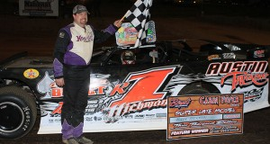 Riley Hickman repeated as the Cabin Fever 40 Champion at Boyds Speedway. (Wells Racing Photography)